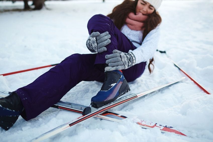 First Aid following a ski accident