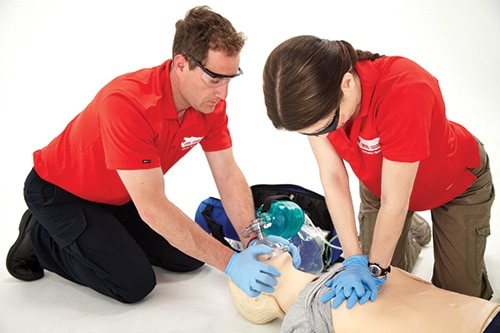 red cross standard first aid basic life support bls